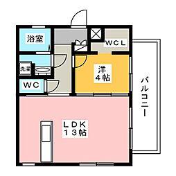 Le Perchoir白壁[2階]の間取り