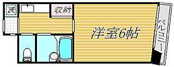 東京都世田谷区若林2丁目の賃貸マンションの間取り