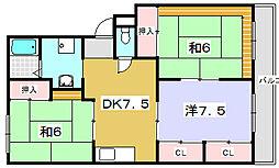ヴァンベール91[3階]の間取り