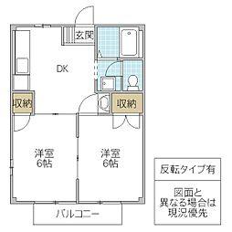 SUNRISEヨシカワ B[104号室号室]の間取り