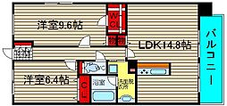 コンソラーレ桜川V[1001号室]の間取り