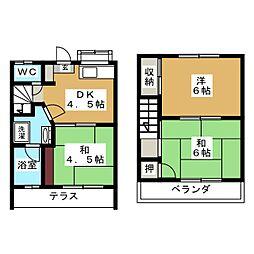 グリーンハイツ257C棟[1階]の間取り