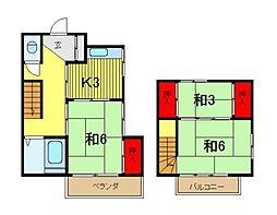 [テラスハウス] 埼玉県さいたま市浦和区東高砂町 の賃貸【/】の間取り