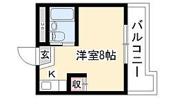 アールズコート喜多山[3A号室]の間取り