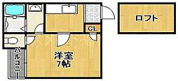 コンフォートベネフィス六本松1 六本松駅[2階]の間取り
