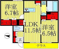 K Piatto[1階]の間取り