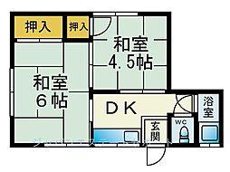 若生荘[1階]の間取り