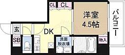 アドバンス新大阪6ビオラ 3階1DKの間取り