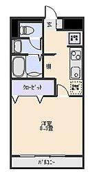 グリーンサイド[2階]の間取り