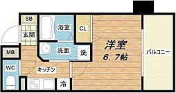 大阪府大阪市中央区南久宝寺町4丁目の賃貸マンションの間取り