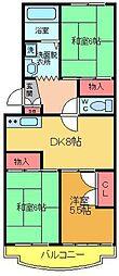 エクセルエステートヨシダII[407号室]の間取り