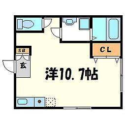 七松ハイツ[2階]の間取り
