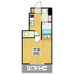 ベラジオ堀川今出川[3階]の間取り