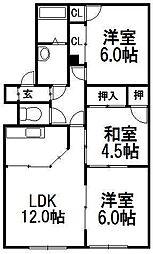 メープル FUKUDA[1階]の間取り