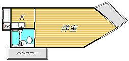 ユースフル祐天寺[2階]の間取り