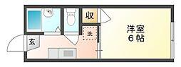 岡山県岡山市中区御成町の賃貸アパートの間取り