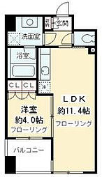 ニューシティアパートメンツ千駄ヶ谷II[11階]の間取り