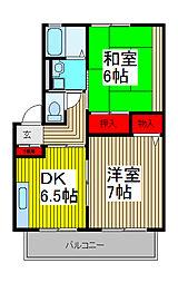 フレンドリー武蔵浦和[201号室]の間取り
