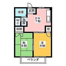 静岡県静岡市清水区駒越南町の賃貸マンションの間取り