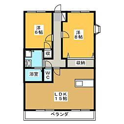 ジュピターIWATA[3階]の間取り