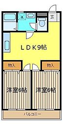 メゾン豊田[303号室]の間取り