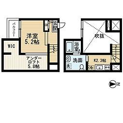 愛知県名古屋市中川区外新町4丁目の賃貸アパートの間取り