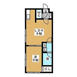 ブランノワールラヴィール南5条[4階]の間取り