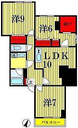 東京都墨田区京島1丁目の賃貸マンションの間取り