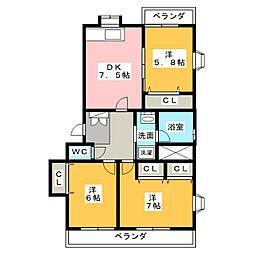 ウイング柴A棟[2階]の間取り