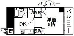 大阪府大阪市住吉区長居3丁目の賃貸マンションの間取り