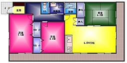ソワサントUTRII[3階]の間取り