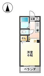 富士レイホービル第5[2階]の間取り