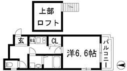 プライムコート池田[7階]の間取り