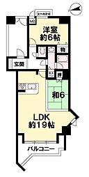 間取り(LDKが約19帖。リゾートマンションで使用される方は多いですが、専有面積は72.75m2と広めです。)