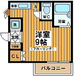 東京都世田谷区松原1丁目の賃貸アパートの間取り
