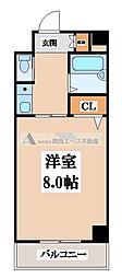 ウィングコート東大阪[2階]の間取り