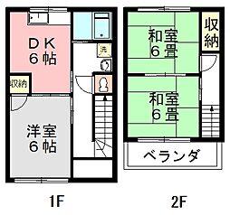 [テラスハウス] 埼玉県新座市野火止3丁目 の賃貸【/】の間取り