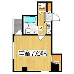 京都府京都市中京区二条西洞院町の賃貸マンションの間取り