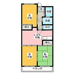 ウインザーK&Yマンション[5階]の間取り