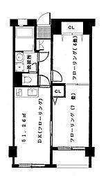 東京都目黒区八雲2丁目の賃貸マンションの間取り