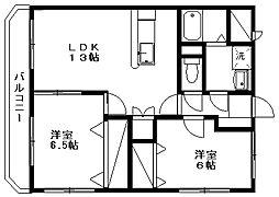 サン・ノーヴァ坂井東[308号室]の間取り
