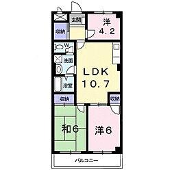 アレーゼF 4階3LDKの間取り