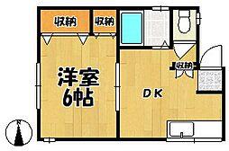 第二中西荘[202号室]の間取り
