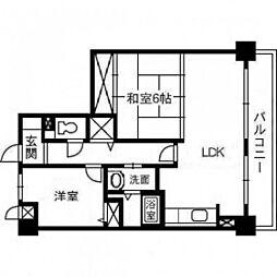 スカール富田公園[7階]の間取り