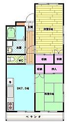 カネカ坂本第3マンション[1階]の間取り