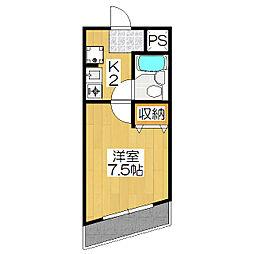 サンライズ88[4階]の間取り