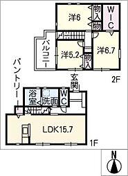 [一戸建] 愛知県名古屋市中村区若宮町2丁目 の賃貸【/】の間取り