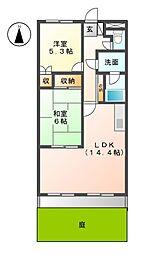 愛知県名古屋市緑区亀が洞3丁目の賃貸アパートの間取り