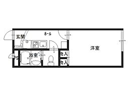京都府京田辺市東古森の賃貸アパートの間取り