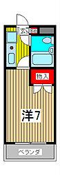 ジョイ北浦和[2階]の間取り